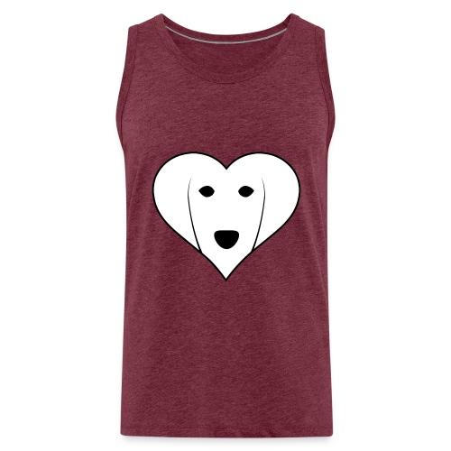 Saluki Heart - Canotta premium da uomo