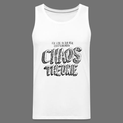 Chaos Theory (musta) - Miesten premium hihaton paita