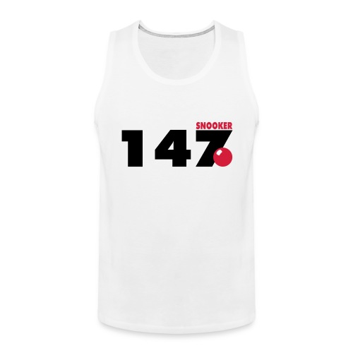 147 Snooker - Männer Premium Tank Top