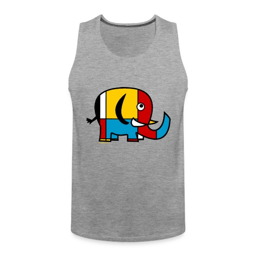 Mondrian Elephant - Men's Premium Tank Top