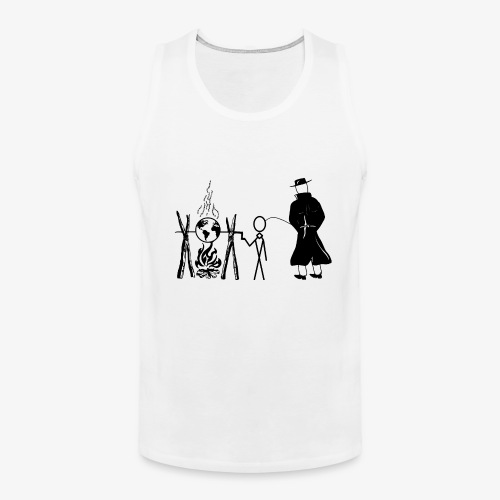 Pissing Man against human self-destruction - Männer Premium Tank Top