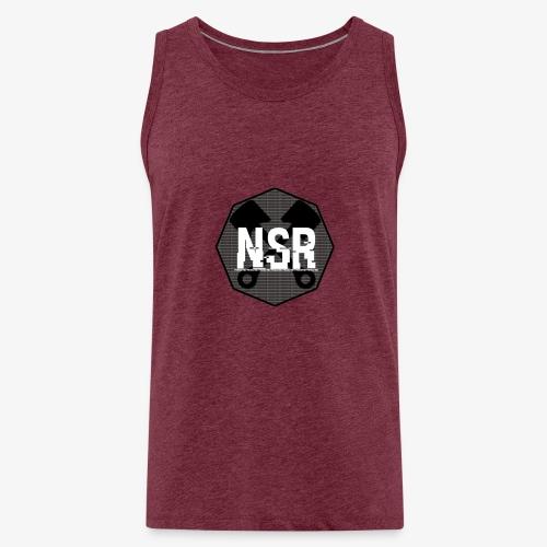 NSR B/W - Miesten premium hihaton paita