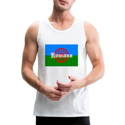 Flag of the Romanilenny people svg - Premiumtanktopp herr