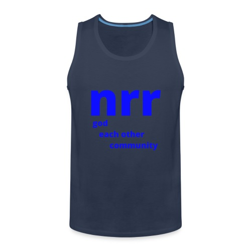 NEARER logo - Men's Premium Tank Top