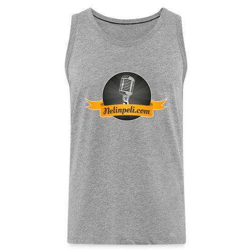 Nelinpelin logo - Miesten premium hihaton paita