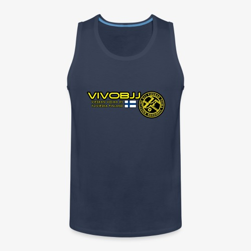ViVoBJJ Patch White - Miesten premium hihaton paita
