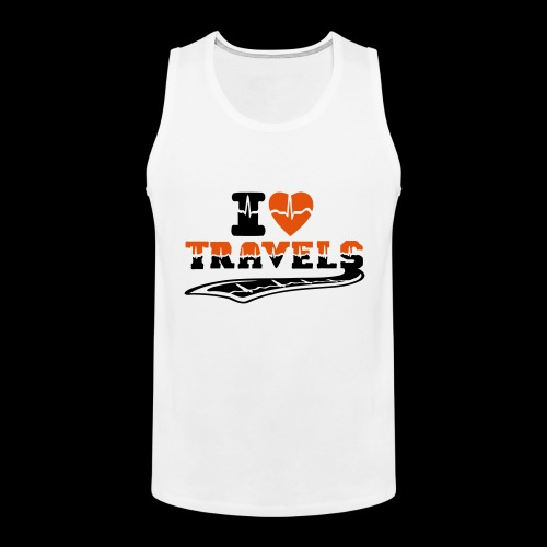 i love travels surprises 2 col - Men's Premium Tank Top