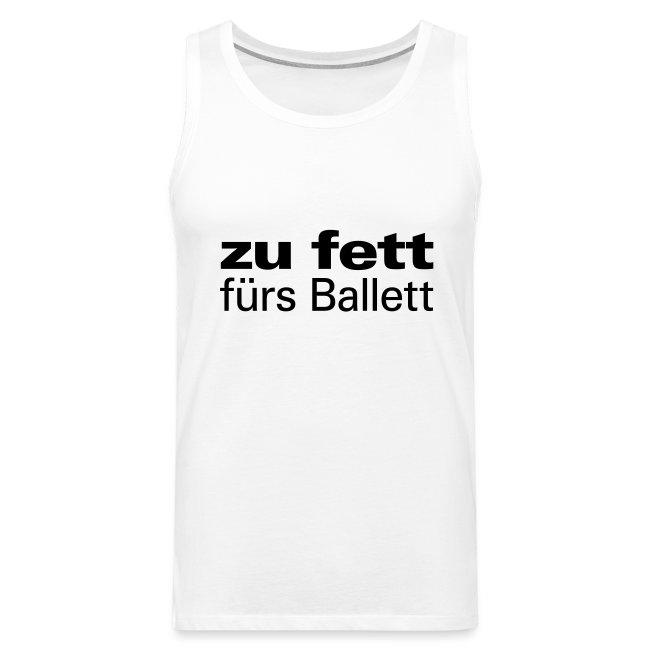 zu fett fürs Ballett Tanz Tänzer Figur Diät adipös