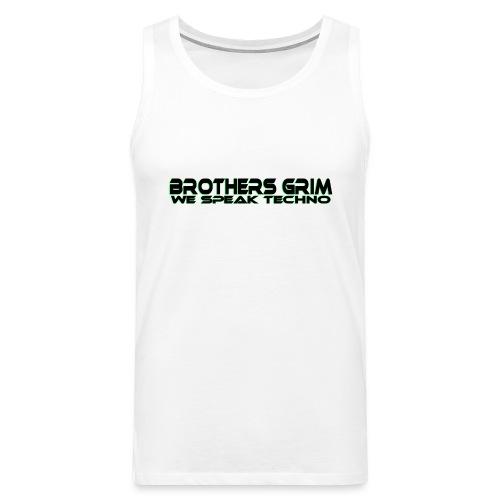 brothers grim BLK GRN copy png - Men's Premium Tank Top