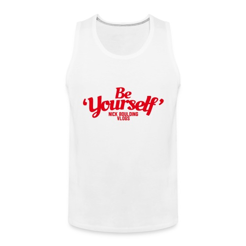NickBeYourselfLogoMedium png - Men's Premium Tank Top