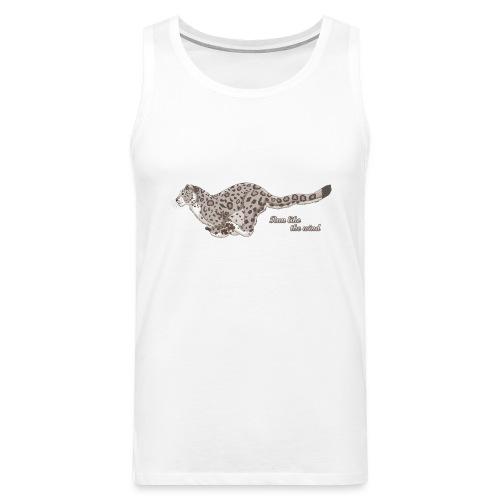 Snow Leopard: Run Like the Wind - Tank top męski Premium