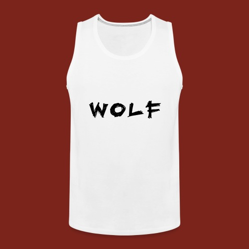 Wolf Font png - Mannen Premium tank top