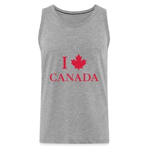 I love Canada Ahornblatt Kanada Vancouver Ottawa - Männer Premium Tank Top