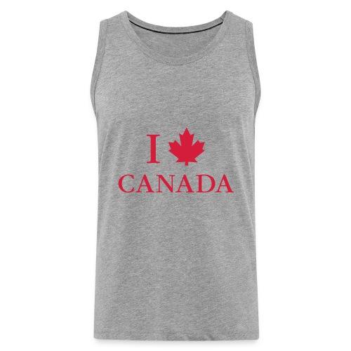I love Canada Ahornblatt Kanada Vancouver Ottawa - Men's Premium Tank Top