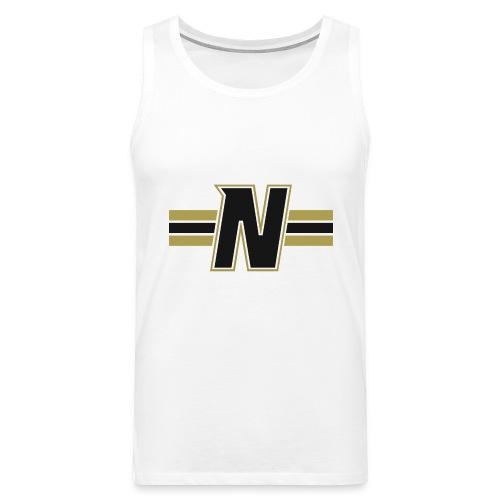 Nordic Steel Black N with stripes - Men's Premium Tank Top