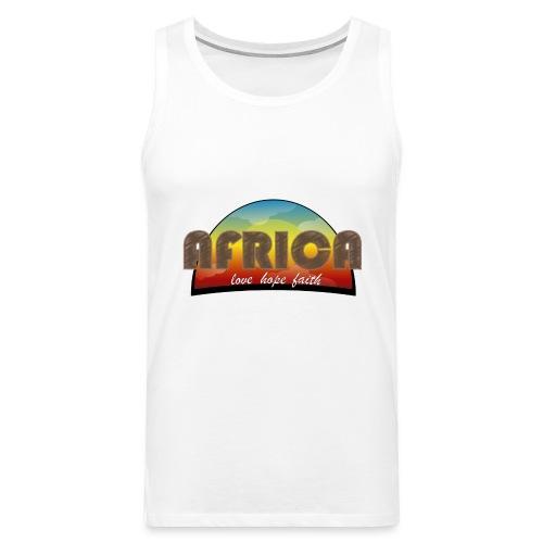 Africa_love_hope_and_faith - Canotta premium da uomo