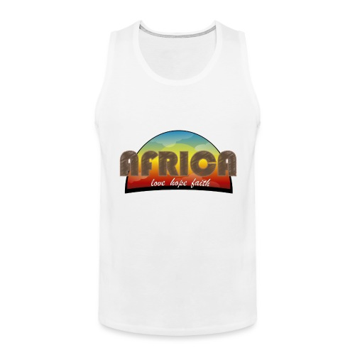 Africa_love_hope_and_faith2 - Canotta premium da uomo