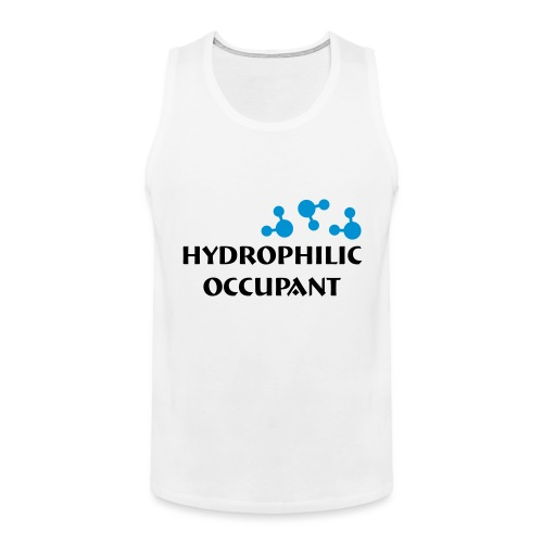 Hydrophilic Occupant (2 colour vector graphic) - Men's Premium Tank Top