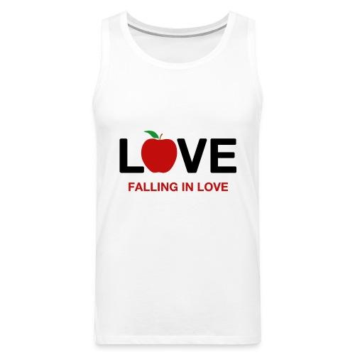 Falling in Love - Black - Men's Premium Tank Top