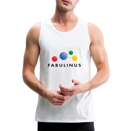 Fabulinus logo dubbelzijdig - Mannen Premium tank top