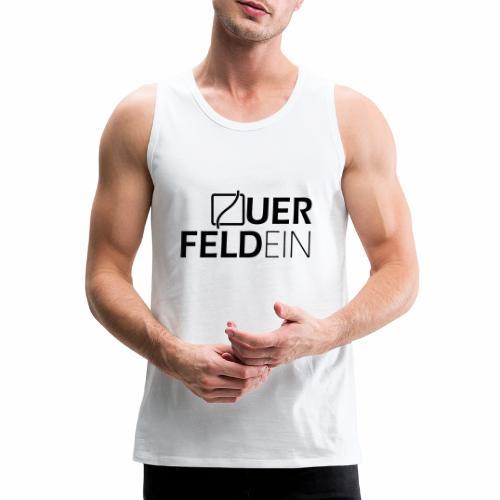 Querfeldein Logo - Männer Premium Tank Top