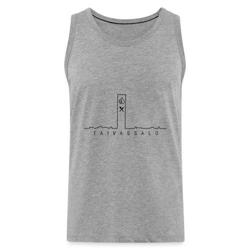Taivassalo -printti - Miesten premium hihaton paita