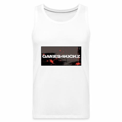 Games4Kickz Logo 004 - Men's Premium Tank Top