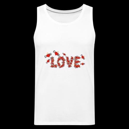 Flying Hearts LOVE - Herre Premium tanktop