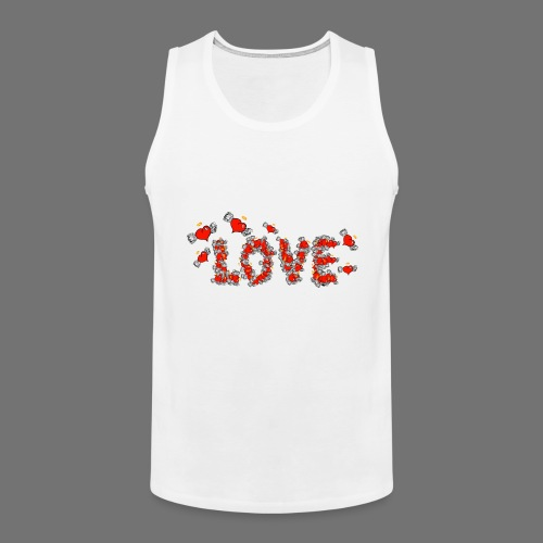 Flying Hearts LOVE - Herre Premium tanktop