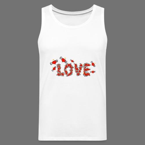 Latające miłości serc - Tank top męski Premium