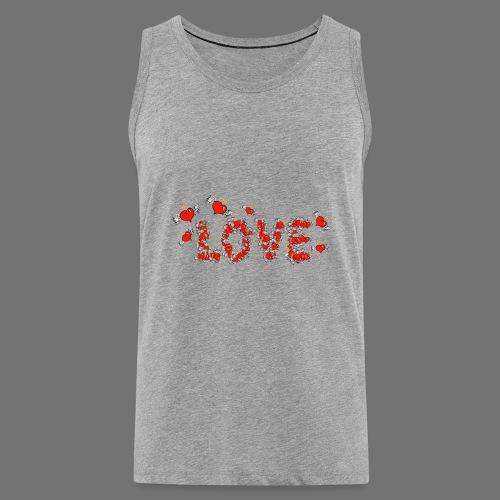 Flying Hearts LOVE - Miesten premium hihaton paita