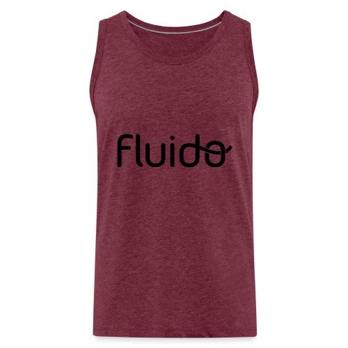 fluidologo_musta - Miesten premium hihaton paita