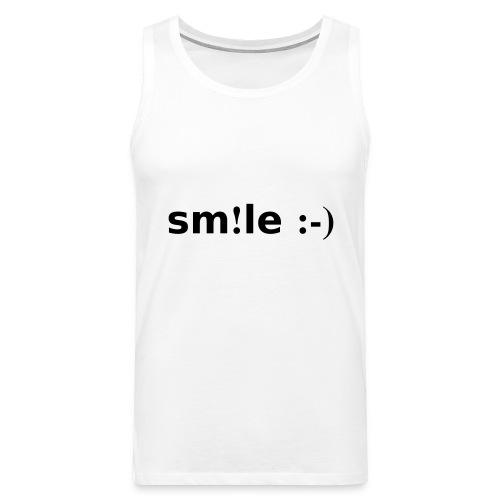 smile - sorridi - Canotta premium da uomo