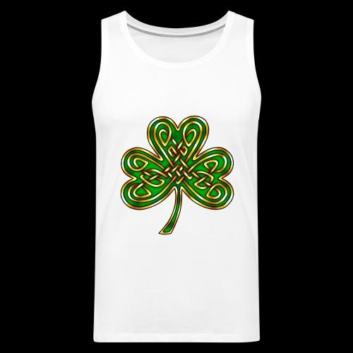 Celtic Knotwork Shamrock - Men's Premium Tank Top