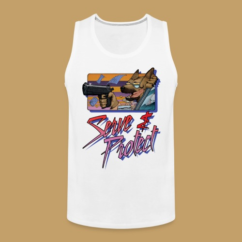 Gun Dog - Serve and protect - napis - Tank top męski Premium