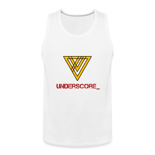 Underscore Yellow Red - Men's Premium Tank Top