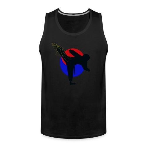 Taekwondo fighter design - Mannen Premium tank top
