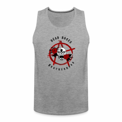 Dead Roses Anarchy Skull Black - Men's Premium Tank Top