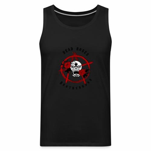 Dead Roses Anarchy Skull Black - Men's Premium Tank Top