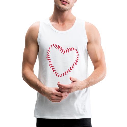 2581172 1029128891 Baseball Heart Of Seams - Men's Premium Tank Top