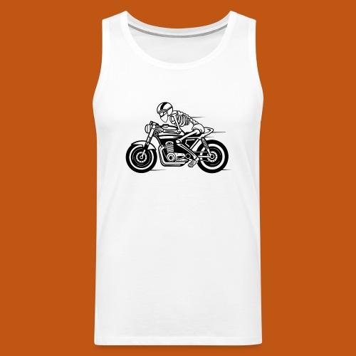 Cafe Racer Motorrad 05_schwarz - Männer Premium Tank Top