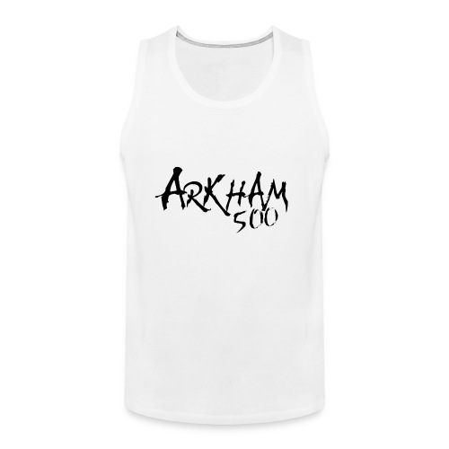 arkham sort spreadshirt png - Premium singlet for menn