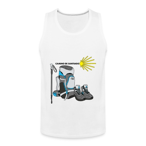 WHITE TEE MENS HIKER png - Men's Premium Tank Top