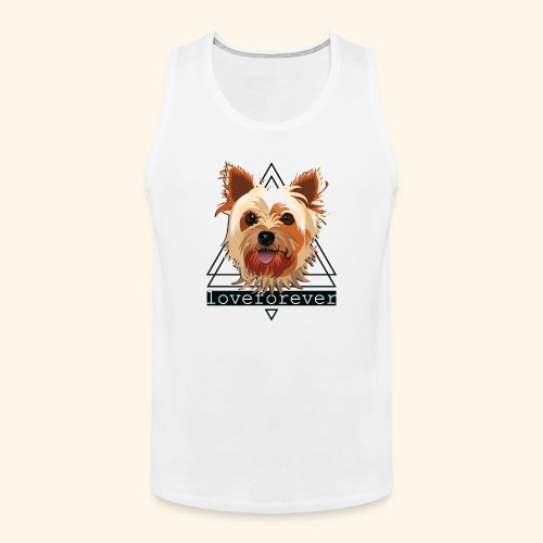 YORKIE LOVE FOREVER - Tank top premium hombre