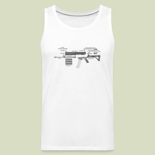 Robinson Armament XCR - Miesten premium hihaton paita