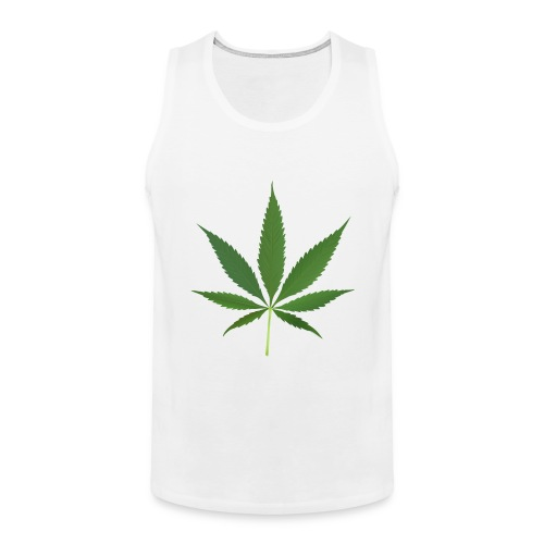 2000px-Cannabis_leaf_2 - Herre Premium tanktop