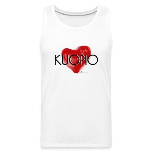 Love Kuopio teksti keskellä - Miesten premium hihaton paita