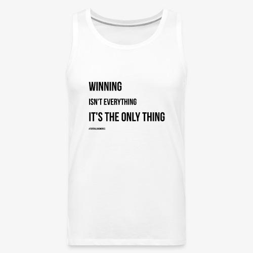 Football Victory Quotation - Men's Premium Tank Top