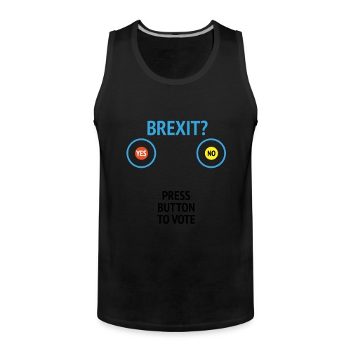 Brexit: Press Button To Vote - Herre Premium tanktop