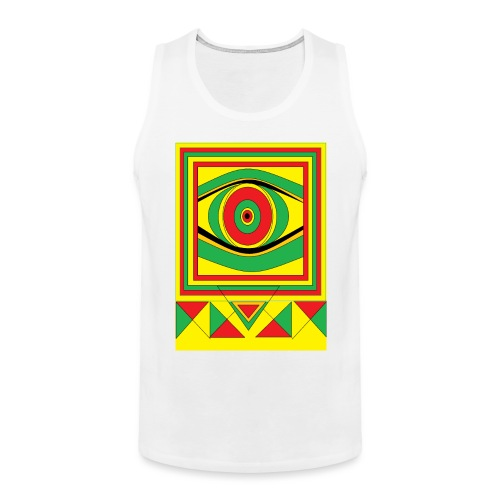 ALL seeing eye RASTA burn down babylon Original - Mannen Premium tank top